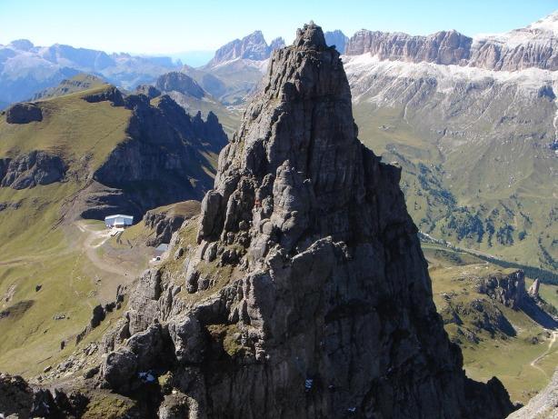 Foto: Manfred Karl / Klettersteig Tour / Via ferrata delle Trincee / Bec de Mezdi / 04.10.2008 14:21:12