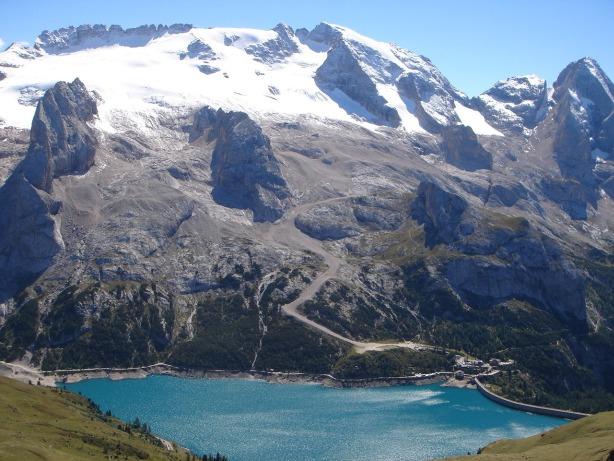 Foto: Manfred Karl / Klettersteig Tour / Via ferrata delle Trincee / Fedaiastausee und Marmolada / 04.10.2008 14:18:16
