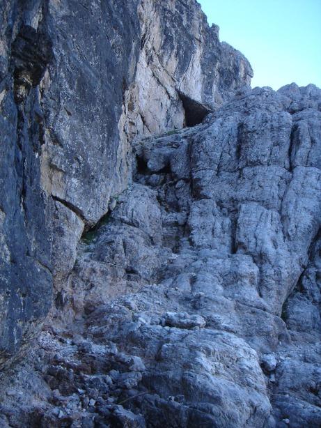 Foto: Manfred Karl / Klettersteig Tour / Via ferrata René de Pol / Der erste Teil des Klettersteiges / 04.10.2008 17:17:09