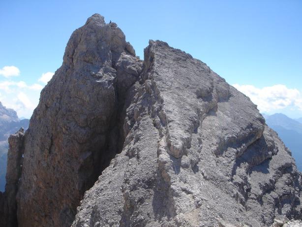 Foto: Manfred Karl / Klettersteig Tour / Via ferrata René de Pol / Der Grat zum Cristallino d´Ampezzo / 04.10.2008 17:01:05
