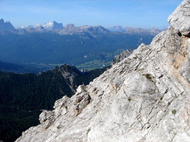 Foto: Manfred Karl / Klettersteig Tour / Via ferrata Ivano Dibona / Querung zwischen Forcella Bassa und Schuttkar / 04.10.2008 16:35:14
