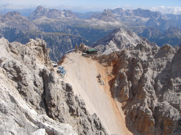 Foto: Manfred Karl / Klettersteig Tour / Via ferrata Ivano Dibona / Forcella Staunies vom Cristallino / 04.10.2008 16:14:25