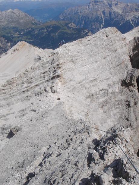 Foto: Manfred Karl / Klettersteig Tour / Via ferrata Ivano Dibona / Der plattige Grat zum Cristallino / 04.10.2008 16:13:58