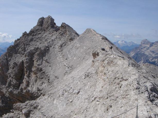 Foto: Manfred Karl / Klettersteig Tour / Via ferrata Ivano Dibona / Gratverlauf zum Cristallino / 04.10.2008 16:13:09