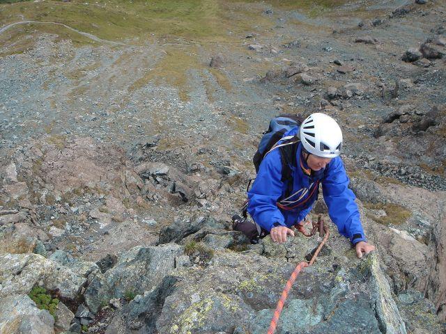 Foto: Manfred Karl / Kletter Tour / Über den Direkten Ostgrat auf die Blauspitze IV / Meist fester Fels ohne besondere Schwierigkeiten / 04.10.2008 12:41:16