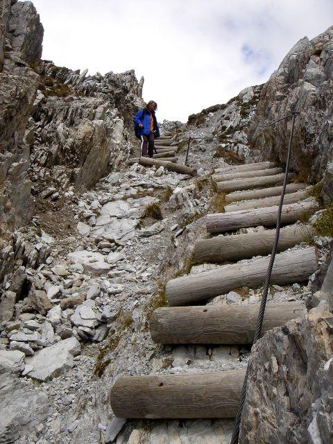 Foto: Manfred Karl / Kletter Tour / Über den Direkten Ostgrat auf die Blauspitze IV / Gut gesicherter Abstieg / 04.10.2008 12:36:33