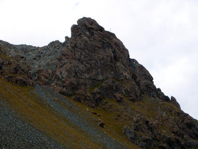 Foto: Manfred Karl / Kletter Tour / Über den Direkten Ostgrat auf die Blauspitze IV / Blauspitze, rechts der Ostgrat / 04.10.2008 12:30:34