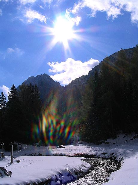 Foto: Andreas Koller / Klettersteig Tour / Ferrata Enrico Contin (2240m) / Bei der Winkelalm / 06.10.2008 19:49:43