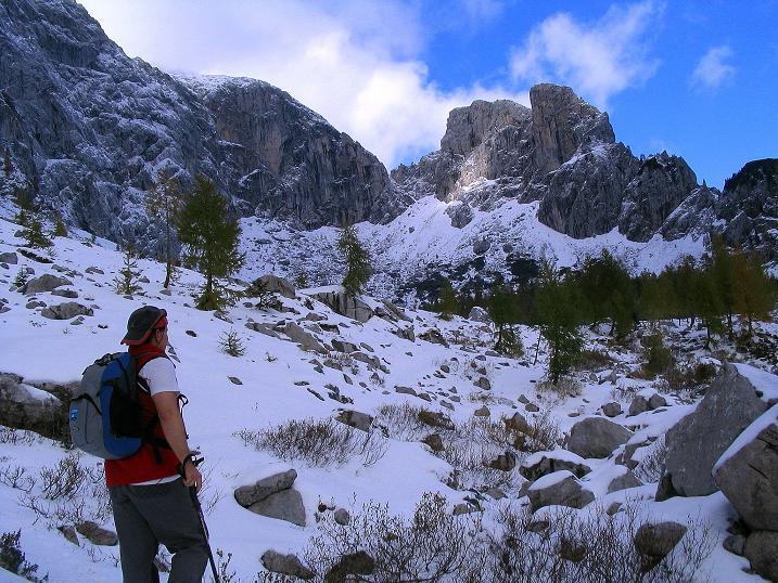 Foto: Andreas Koller / Klettersteig Tour / Ferrata Enrico Contin (2240m) / Blick ins obere Winkeltal / 06.10.2008 19:48:47