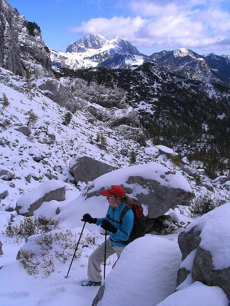 Foto: Andreas Koller / Klettersteig Tour / Ferrata Enrico Contin (2240m) / Im obersten Winkeltal / 06.10.2008 19:47:15