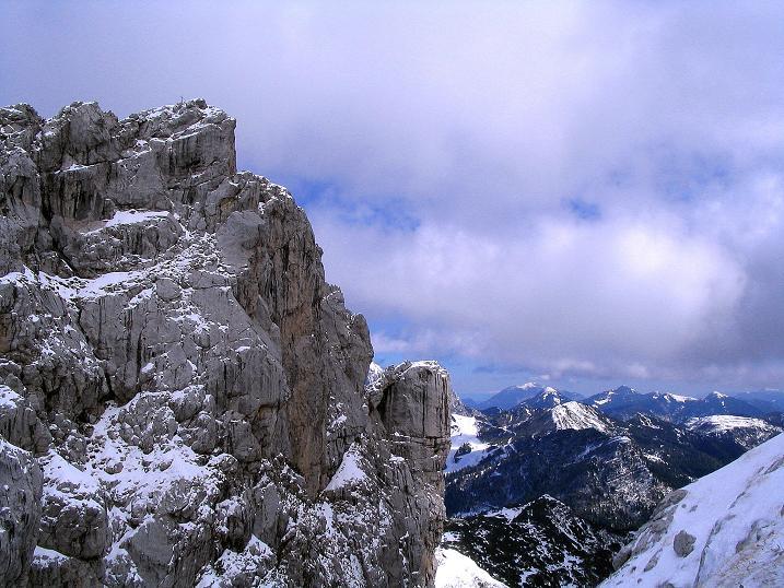 Foto: Andreas Koller / Klettersteig Tour / Ferrata Enrico Contin (2240m) / Winkelturm (2071 m) und Blick nach O / 06.10.2008 19:44:16
