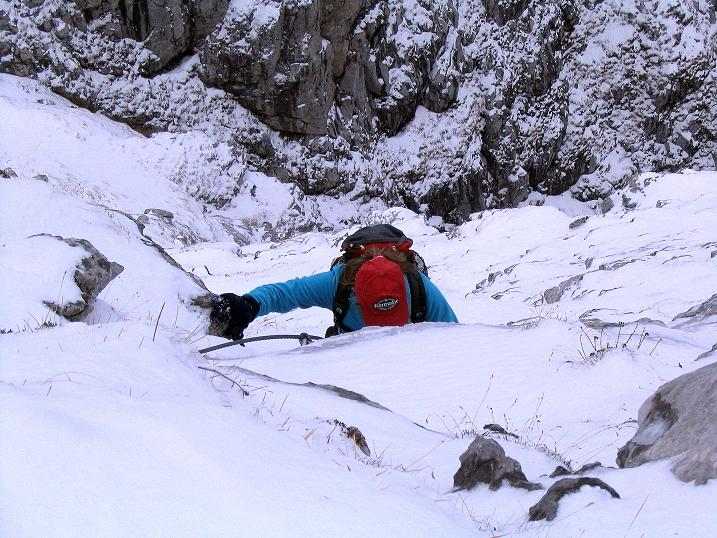 Foto: Andreas Koller / Klettersteig Tour / Ferrata Enrico Contin (2240m) / Nur kurze steilere B-Passagen, bei Schnee allerdings heikel / 06.10.2008 19:42:27