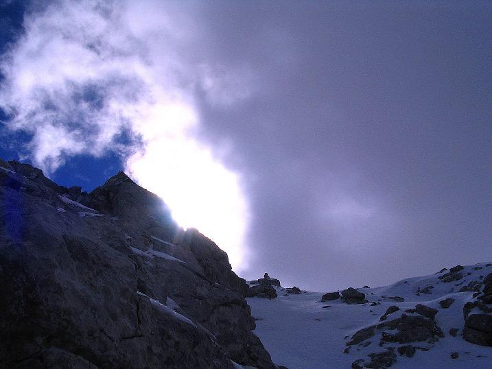 Foto: Andreas Koller / Klettersteig Tour / Ferrata Enrico Contin (2240m) / Blick hinauf zum Ausstieg / 06.10.2008 19:41:59