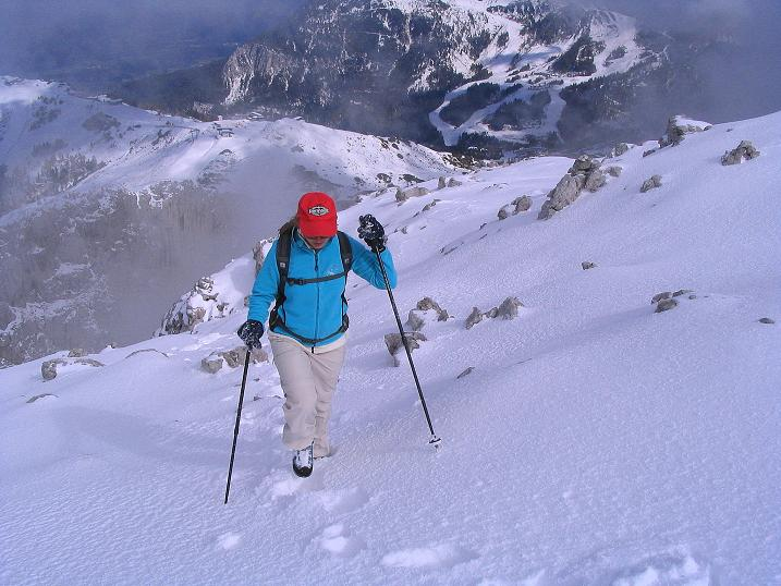 Foto: Andreas Koller / Klettersteig Tour / Ferrata Enrico Contin (2240m) / Ausstieg am Gipfelplateau / 06.10.2008 19:41:11