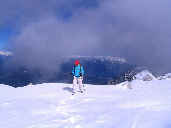 Foto: Andreas Koller / Klettersteig Tour / Ferrata Enrico Contin (2240m) / Das Gipfelplateau ist erreicht / 06.10.2008 19:40:53