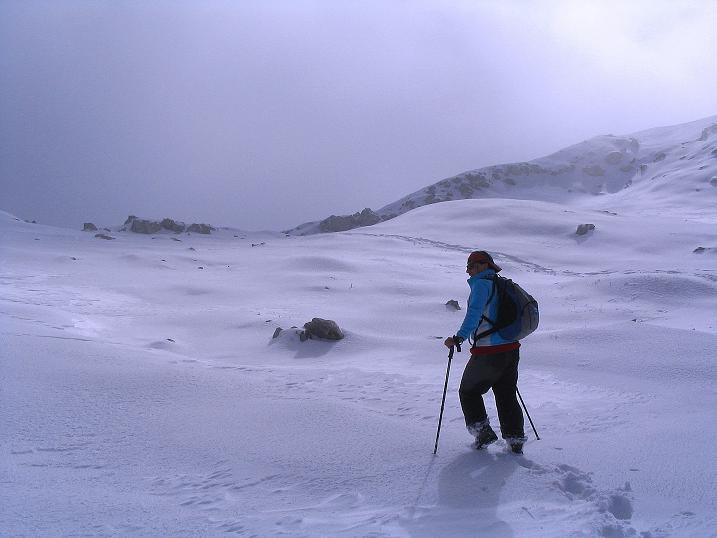 Foto: Andreas Koller / Klettersteig Tour / Ferrata Enrico Contin (2240m) / Nur noch über das Gipfelplateau zum höchsten Punkt / 06.10.2008 19:40:04