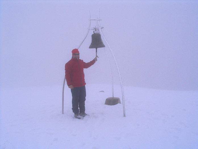 Foto: Andreas Koller / Klettersteig Tour / Ferrata Enrico Contin (2240m) / Die Friedensglocke am Rosskofel / 06.10.2008 19:39:21
