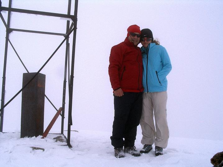 Foto: Andreas Koller / Klettersteig Tour / Ferrata Enrico Contin (2240m) / Beim Gipfelzeichen / 06.10.2008 19:39:06