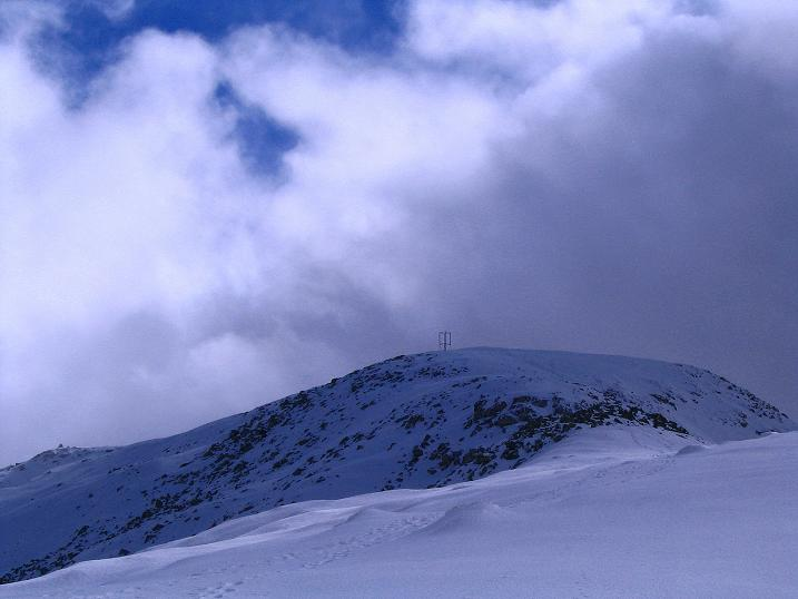 Foto: Andreas Koller / Klettersteig Tour / Ferrata Enrico Contin (2240m) / Letzter Blick auf den Rosskofel-Gipfel / 06.10.2008 19:38:26