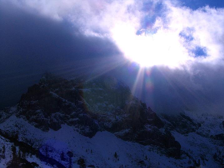 Foto: Andreas Koller / Klettersteig Tour / Ferrata Enrico Contin (2240m) / Nebel am Rosskofel / 06.10.2008 19:35:46