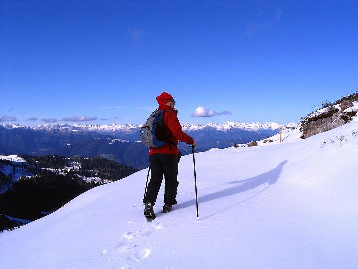 Foto: Andreas Koller / Klettersteig Tour / Ferrata Enrico Contin (2240m) / Gegenanstieg in den Madritschen Sattel / 06.10.2008 19:35:32