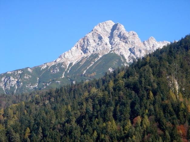 Foto: Manfred Karl / Klettersteig Tour / Über den Wildental Klettersteig auf das Persailhorn / Markanter Gipfel oberhalb von Saalfelden: Das Persailhorn / 11.10.2008 21:58:13