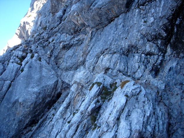 Foto: Manfred Karl / Klettersteig Tour / Über den Wildental Klettersteig auf das Persailhorn / Quergang / 11.10.2008 21:51:58