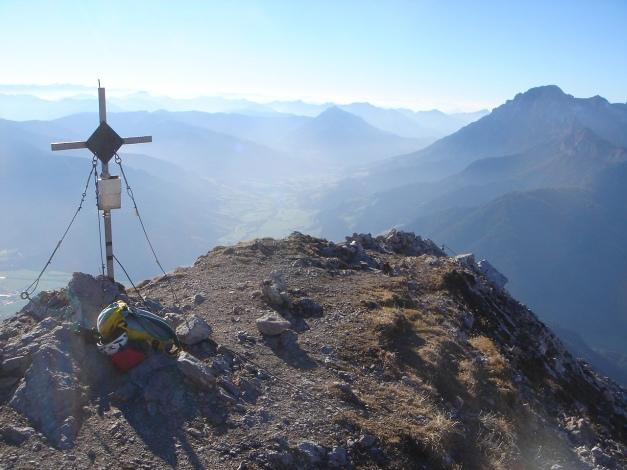 Foto: Manfred Karl / Klettersteig Tour / Über den Wildental Klettersteig auf das Persailhorn / Blick nach Westen, rechts Birnhorn / 11.10.2008 21:45:11