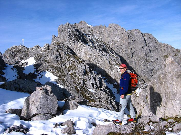 Foto: Andreas Koller / Klettersteig Tour / Innsbrucker Klettersteig - Hannes Gasser Panorama Klettersteig (2480m) / Am hafelekar kurz vor dem Einstieg / 15.10.2008 01:38:00