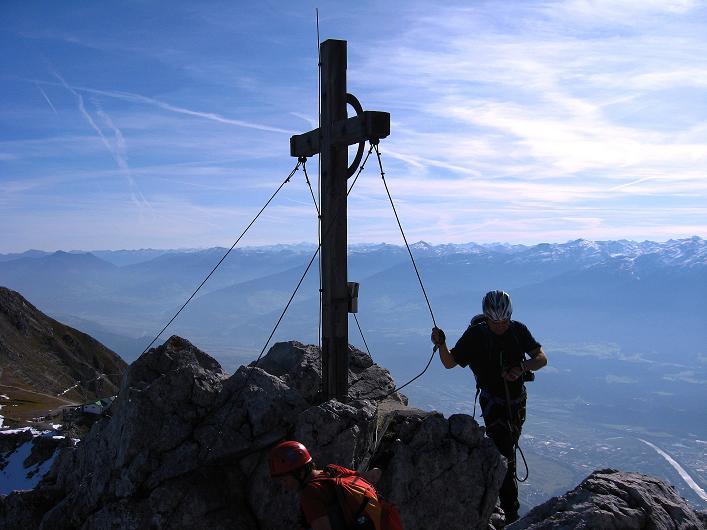 Foto: Andreas Koller / Klettersteig Tour / Innsbrucker Klettersteig - Hannes Gasser Panorama Klettersteig (2480m) / Die Seegrubenspitze / 15.10.2008 01:35:38