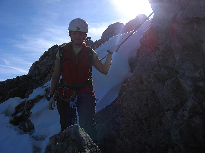 Foto: Andreas Koller / Klettersteig Tour / Innsbrucker Klettersteig - Hannes Gasser Panorama Klettersteig (2480m) / Kurz nach der Seebrugenspitze / 15.10.2008 01:35:23