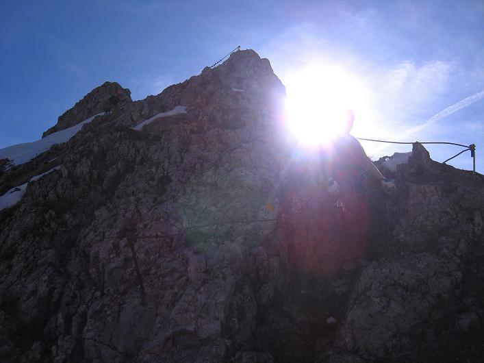 Foto: Andreas Koller / Klettersteig Tour / Innsbrucker Klettersteig - Hannes Gasser Panorama Klettersteig (2480m) / Am Grat / 15.10.2008 01:34:51