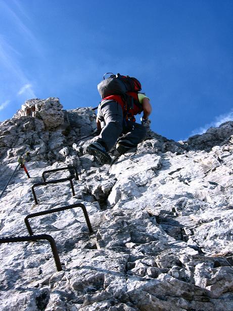 Foto: Andreas Koller / Klettersteig Tour / Innsbrucker Klettersteig - Hannes Gasser Panorama Klettersteig (2480m) / Steile Klemmen-Reihe / 15.10.2008 01:31:19