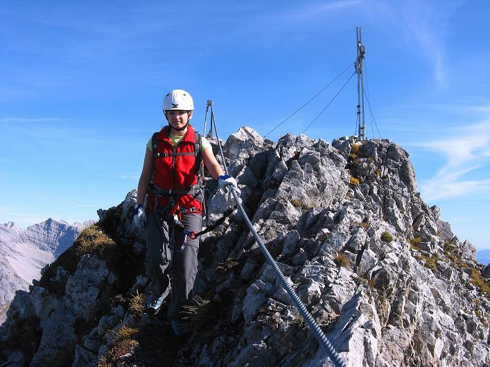 Foto: Andreas Koller / Klettersteig Tour / Innsbrucker Klettersteig - Hannes Gasser Panorama Klettersteig (2480m) / Kaminspitze / 15.10.2008 01:29:54