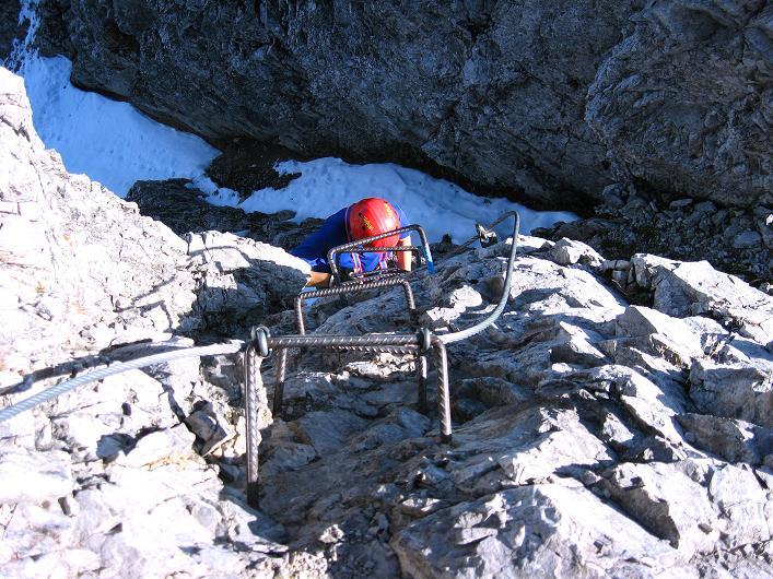 Foto: Andreas Koller / Klettersteig Tour / Innsbrucker Klettersteig - Hannes Gasser Panorama Klettersteig (2480m) / Anstieg im steilen Wandl (C) / 15.10.2008 01:27:17