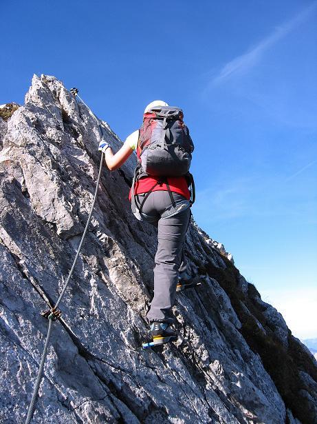 Foto: Andreas Koller / Klettersteig Tour / Innsbrucker Klettersteig - Hannes Gasser Panorama Klettersteig (2480m) / Stiftreihe am Grat / 15.10.2008 01:26:50