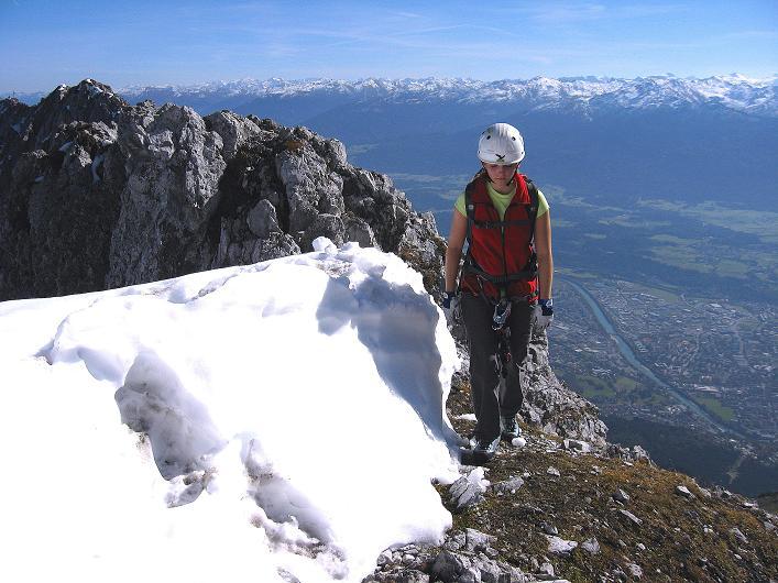 Foto: Andreas Koller / Klettersteig Tour / Innsbrucker Klettersteig - Hannes Gasser Panorama Klettersteig (2480m) / Am Grat / 15.10.2008 01:24:24