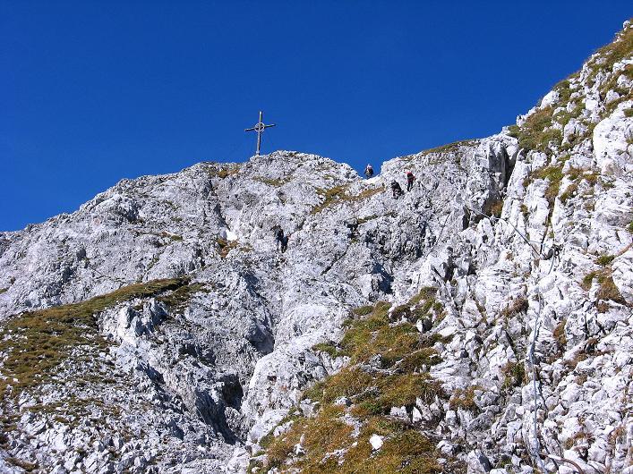 Foto: Andreas Koller / Klettersteig Tour / Innsbrucker Klettersteig - Hannes Gasser Panorama Klettersteig (2480m) / Weniger schwierige Passage in der Kemacher S-Flanke / 15.10.2008 01:23:40