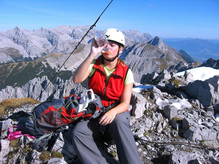 Foto: Andreas Koller / Klettersteig Tour / Innsbrucker Klettersteig - Hannes Gasser Panorama Klettersteig (2480m) / Vom gipfel des Kemacher Richtung Bettelwurf (2726 m) / 15.10.2008 01:21:55