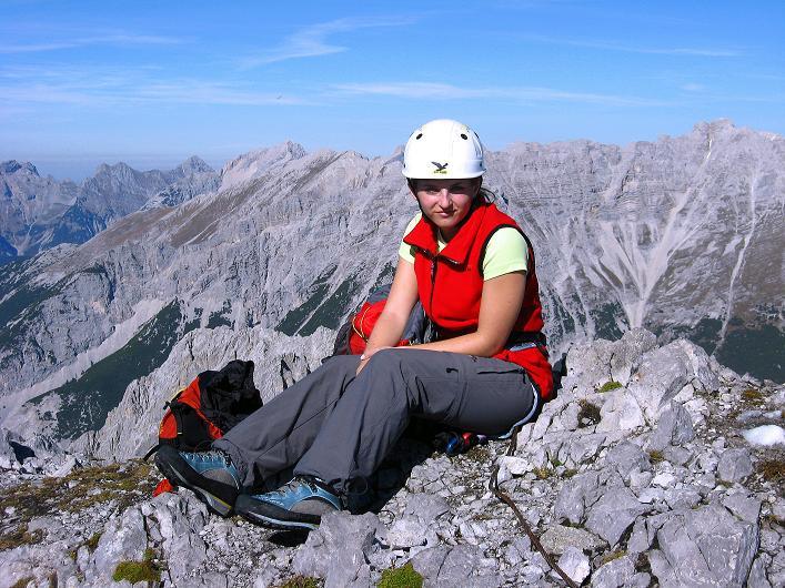 Foto: Andreas Koller / Klettersteig Tour / Innsbrucker Klettersteig - Hannes Gasser Panorama Klettersteig (2480m) / Gipfelrast am Kemacher / 15.10.2008 01:19:19