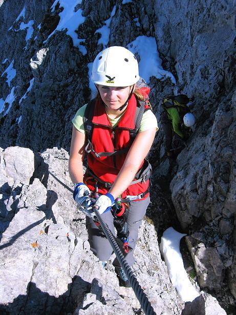 Foto: Andreas Koller / Klettersteig Tour / Innsbrucker Klettersteig - Hannes Gasser Panorama Klettersteig (2480m) / Auch der W-Grat des Kemacher gehört noch zum Hannes Gasser Panoramaklettersteig / 15.10.2008 01:17:56
