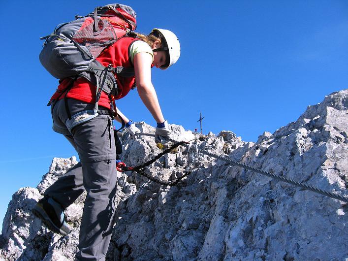 Foto: Andreas Koller / Klettersteig Tour / Innsbrucker Klettersteig - Hannes Gasser Panorama Klettersteig (2480m) / Klettersteig-Feeling auch im Abstieg vom Kemacher / 15.10.2008 01:17:21