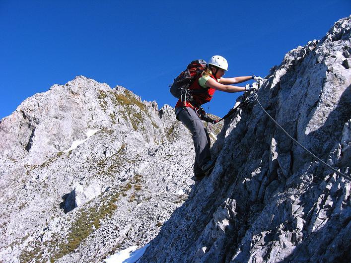 Foto: Andreas Koller / Klettersteig Tour / Innsbrucker Klettersteig - Hannes Gasser Panorama Klettersteig (2480m) / Am Kemacher W-Grat / 15.10.2008 01:16:02