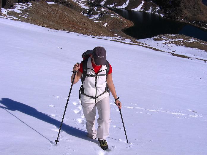 Foto: Andreas Koller / Wander Tour / Söldner Wandertour: Schwarzkogel (3018m) und Rotkogel (2947m) / Harmloser Steilanstieg im Aufstieg / 16.10.2008 01:17:46