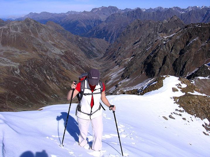 Foto: Andreas Koller / Wander Tour / Söldner Wandertour: Schwarzkogel (3018m) und Rotkogel (2947m) / Am N-Grat / 16.10.2008 01:14:47