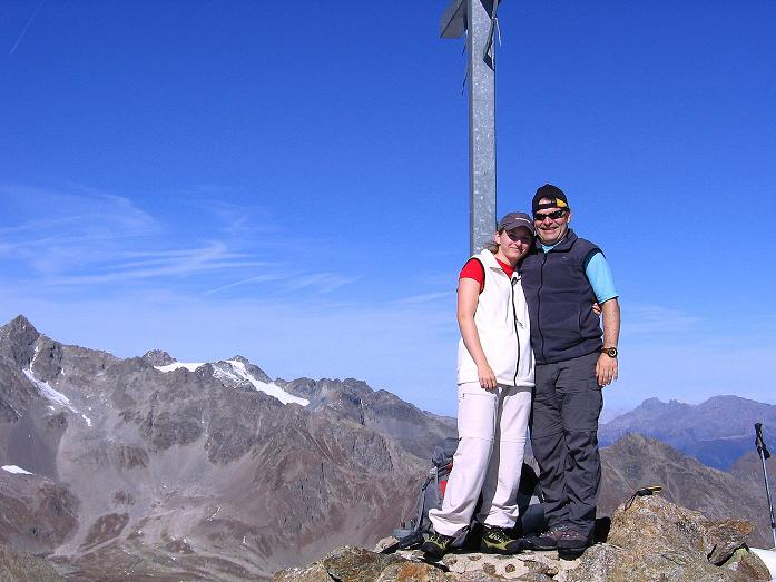 Foto: Andreas Koller / Wander Tour / Söldner Wandertour: Schwarzkogel (3018m) und Rotkogel (2947m) / Schwarzkogel - Gipfel / 16.10.2008 01:09:08