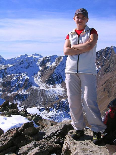Foto: Andreas Koller / Wander Tour / Söldner Wandertour: Schwarzkogel (3018m) und Rotkogel (2947m) / Am Schwarzkogel / 16.10.2008 01:08:41