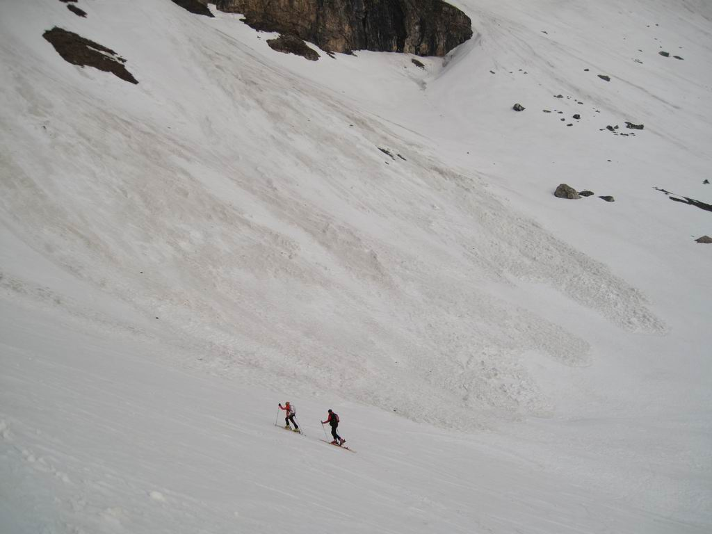 Foto: Heidi Schützinger / Ski Tour / Brennkogel / Aufstieg von der Elendgrube durchs Beindlkar zur Brennkogelscharte / 11.05.2011 15:42:46
