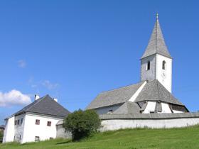 Foto: Romana Koeroesi / Wander Tour / Nach St.Lorenzen / Kirche St. Lorenzen. Bild: Regionalverband kärnten:mitte / 07.05.2009 15:16:42