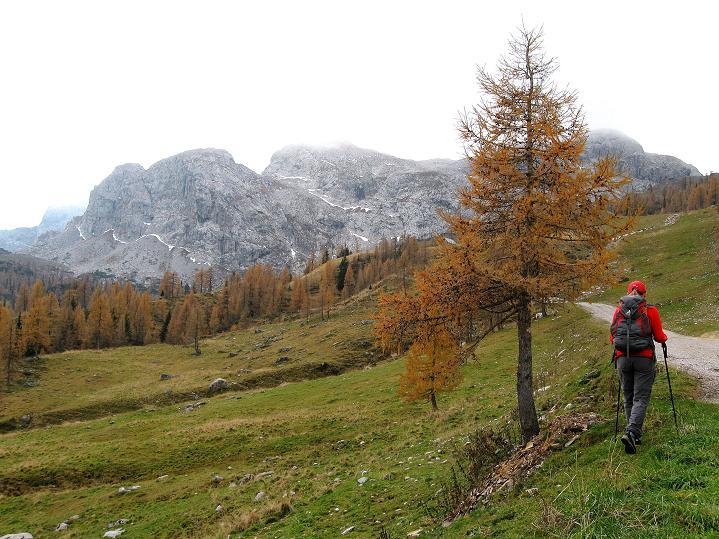 Foto: Andreas Koller / Klettersteig Tour / Via ferrata Crete Rosse und Uiberlacher Klettersteig (2280m) / Von der Rudniglam am Rosskofel vorbei zum Trogkofel / 22.10.2008 00:36:33